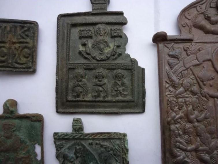 старинные нательные иконки