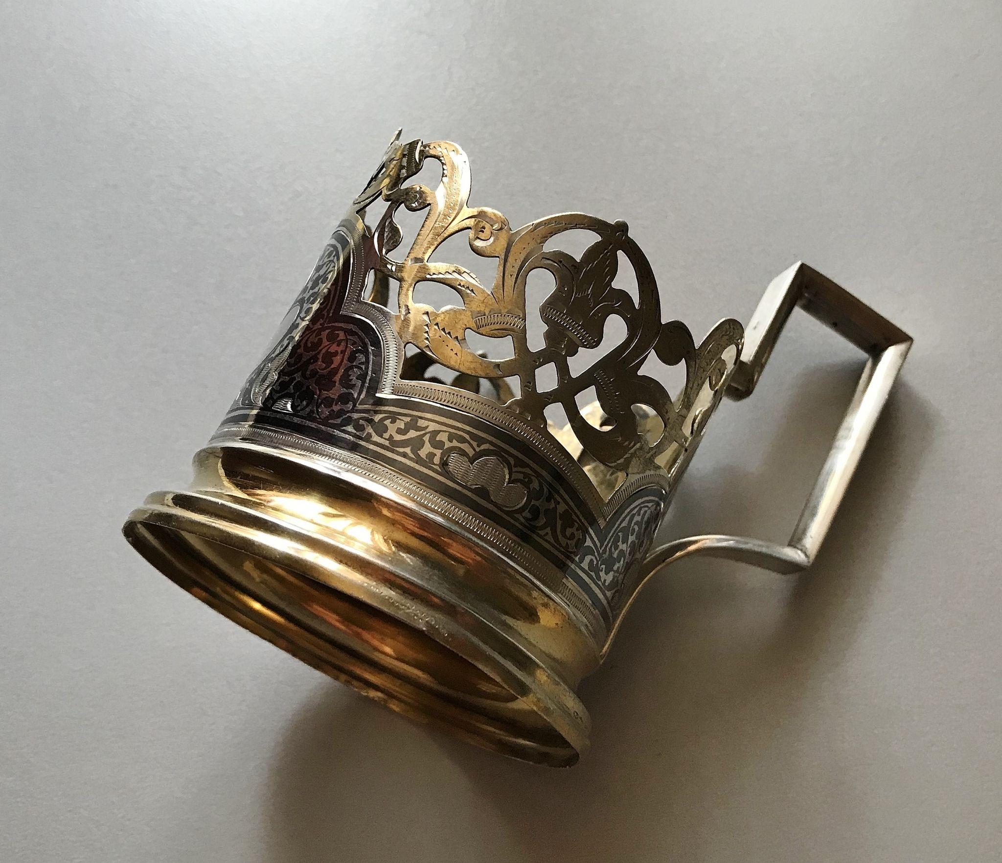 серебрянный подстаканник