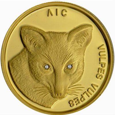 белорусская монета с изображением лисицы
