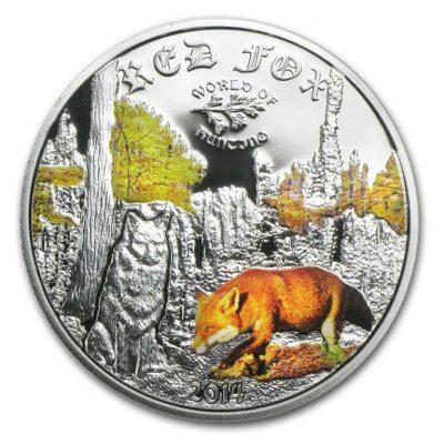 мгонета с острова Кука с изображением лисички