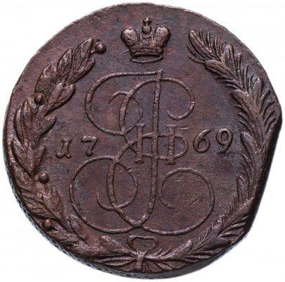 монета 1769 года с подпиленным краем