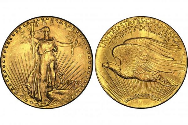 20 долларов 1933 года