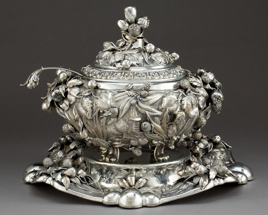 серебрянная супница